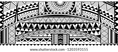 Tribal sleeve design. Maori ethnic ornaments