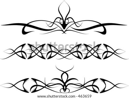 stock vector Tribal style tattoos vector