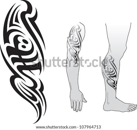 tribal styled tattoo pattern