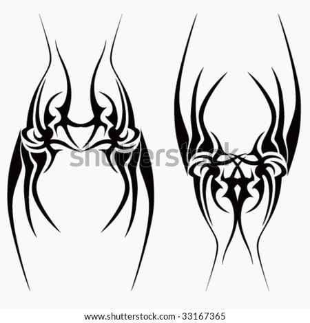 flower star tattoo tribal butterfly tattoos designs tribal tattoo. abstract. aggressive