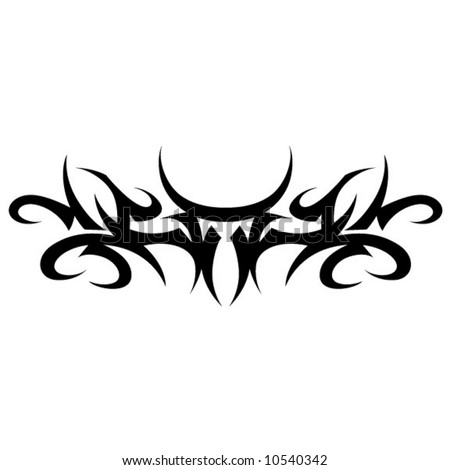 stock vector : Tribal Tattoo Armband