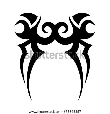 TRIBAL TATTOO ART DESIGNS. Sketched simple isolated vector. Tattoo idea art design for girl, woman and man. Abstract tribal tattoo pattern.Vector illustration.
