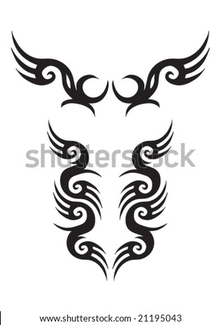 tribal tattoo patterns. stock vector : Tribal Tattoo