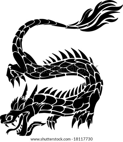 tribal tattoos of dragons