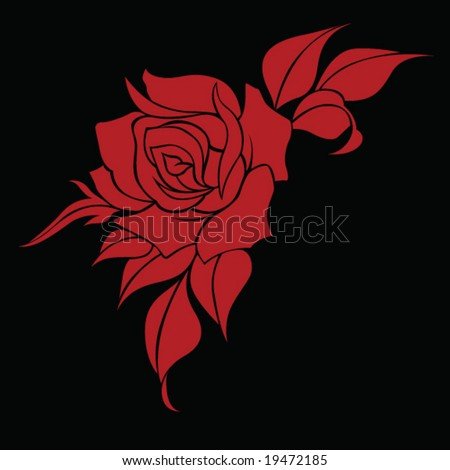 The Beautiful Tribal Rose Tattoo Designs | DESIGNS TATTOO stock vector