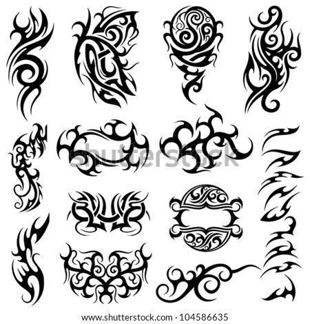 tribal tattoo set 2