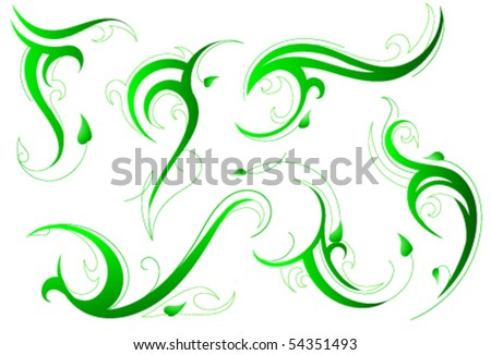 swirls tattoo. stock vector : Tribal tattoo