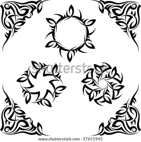 sun tattoo. stock vector : Tribal tattoo