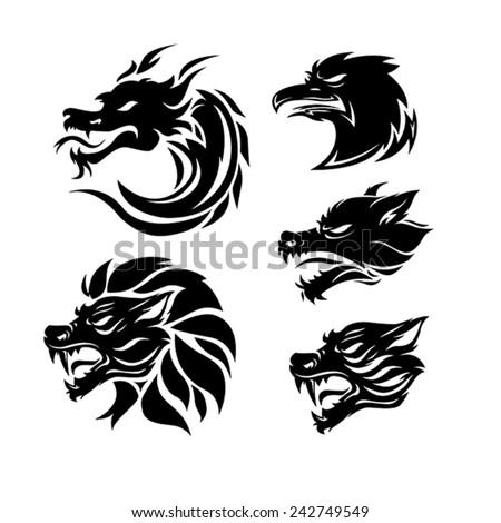 tribal tattoo   set of 5