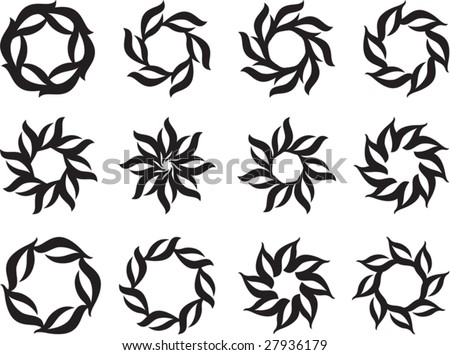 Design Tattoos on Tribal Tattoo Set Sun  Flame Designs Stock Vector 27936179