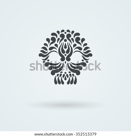tribal tattoo skull ornate