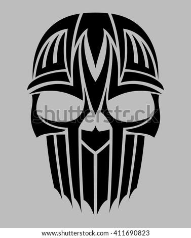 tribal tattoo skull vector