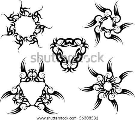 Tribal  Tattoos on Tribal Tattoo Sun Stock Vector 56308531   Shutterstock