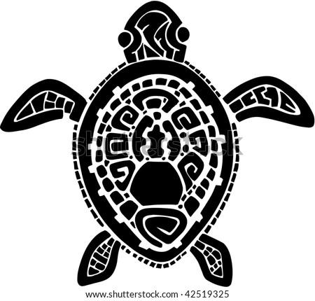 stock vector : Tribal Tattoo Turtle Vector Illustration