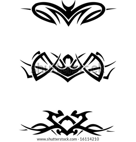tribal tattoo vector. 1940-1980