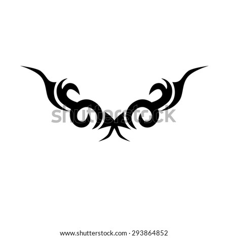 Tribal tattoo vector design sketch. Sleeve art abstract pattern arm. Simple logo on white background. Designer isolated abstract element for arm, leg, shoulder men and women.