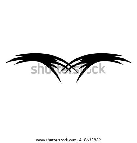 Tribal tattoo vector designs sketch. Simple logo. Designer isolated element for ideas decorating the body of women, men and girls arm, leg and other body parts on white background.