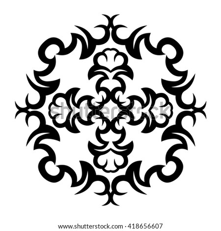 Tribal Tattoo Vector Designs Sketch Simple Logo Designer Isolated