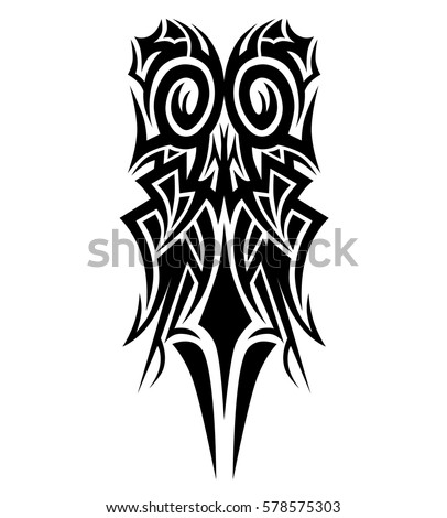 tribal tattoo vector element pattern - abstract sleeve - flames polinesian pattern