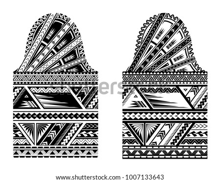 Tribal tattoo with ethnic ornaments in Maori style. Good for the sleeve tattoo design - Shutterstock ID 1007133643
