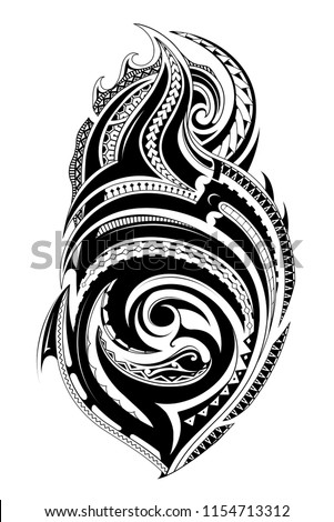 stock-vector-tribal-tattoo-with-ethnic-polynesian-ornaments