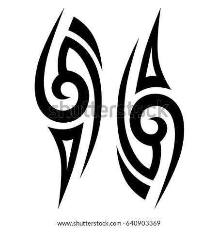 Tribal tattoos. Tattoo tribal vector designs. Art tribal tattoo. Isolated vector sketch of a tattoo. Tattoos ideas. Creative tattoo ornament vector.