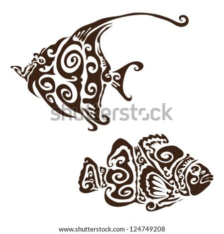 tribal tropical fish