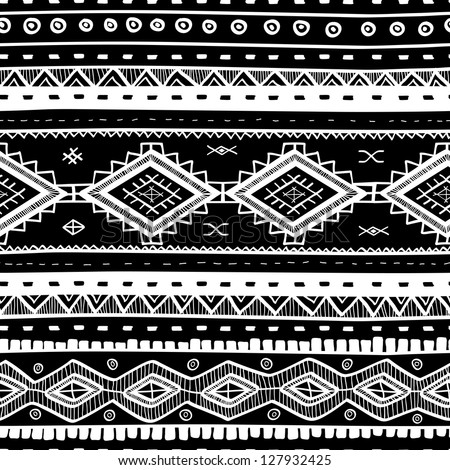 tribal vector seamless