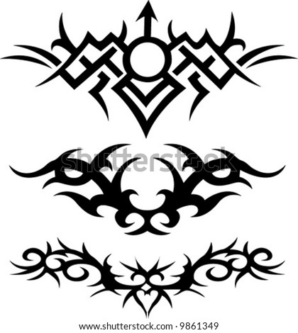 Free tribal art tattoo art samples vector tribal art examples
