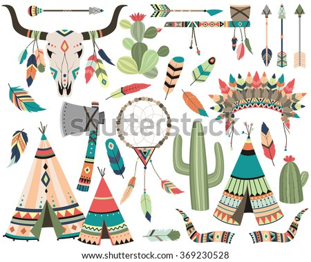 tribal vector   teepee  arrow ...