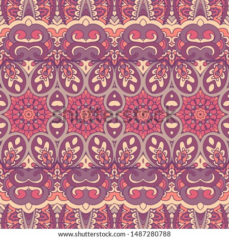 Tribal vintage abstract geometric ethnic seamless pattern ornamental. Indian striped textile design. Textile ikat