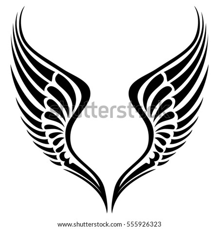 tribal wing vector silhouette