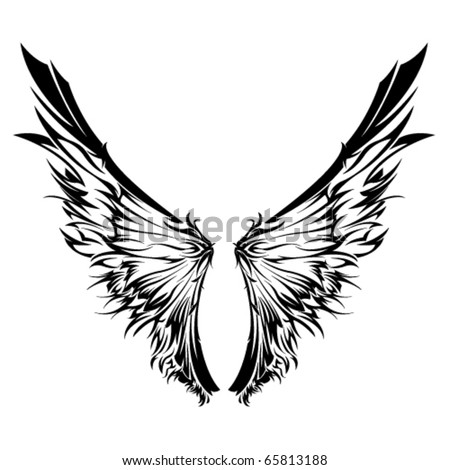 stock vector Tribal Wings