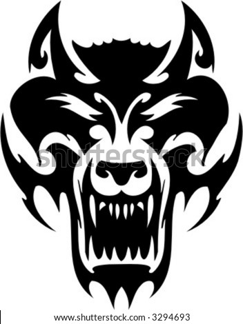 tribal wolf tattoos. stock vector : Tribal Wolf.