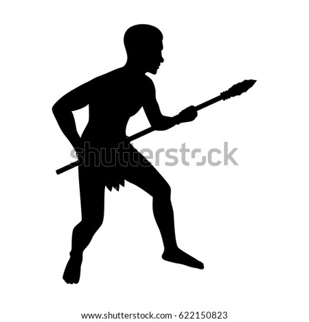 tribe man holding spear