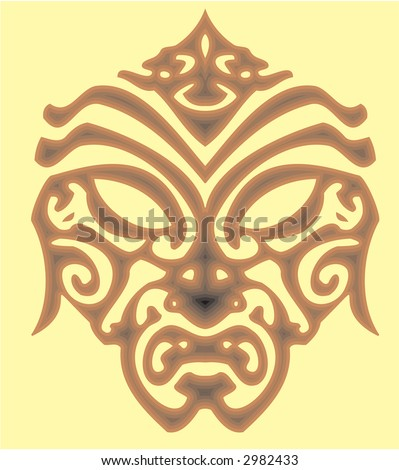 stock vector Trible Tattoo mask