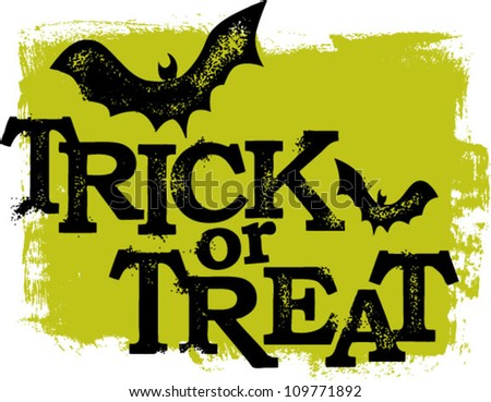 Trick or Treat Halloween Text