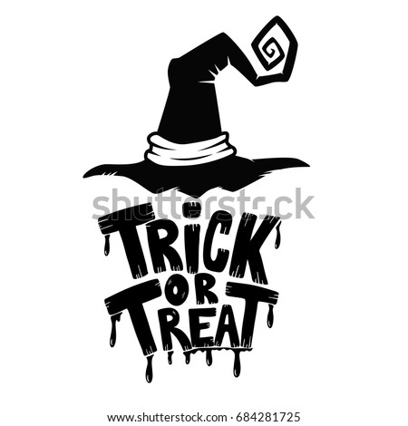 trick or treat hand drawn