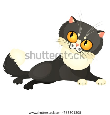 tricky animated gray cat with