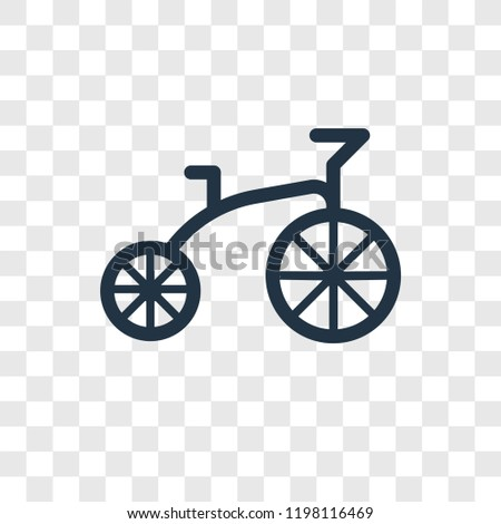 Tricycle toy vector icon isolated on transparent background, Tricycle toy transparency logo concept