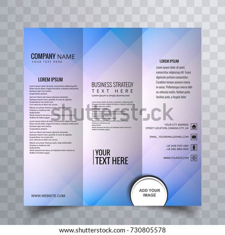 Trifold brochure creative design