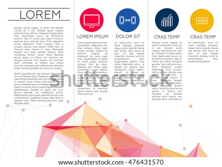 Elegant Trifold Brochure Design Template Download Free Vector Art