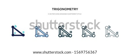 trigonometry icon in different style vector illustration. two colored and black trigonometry vector icons designed in filled, outline, line and stroke style can be used for web, mobile, ui