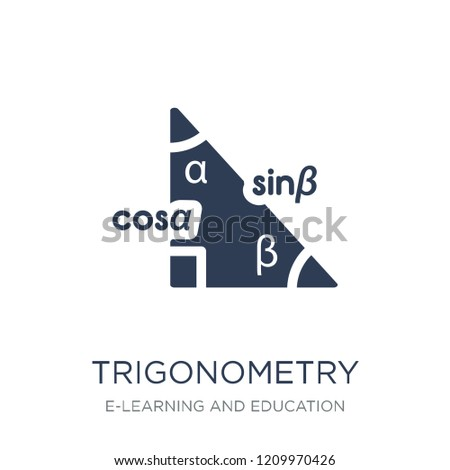 Trigonometry icon. Trendy flat vector Trigonometry icon on white background from E-learning and education collection, vector illustration can be use for web and mobile, eps10