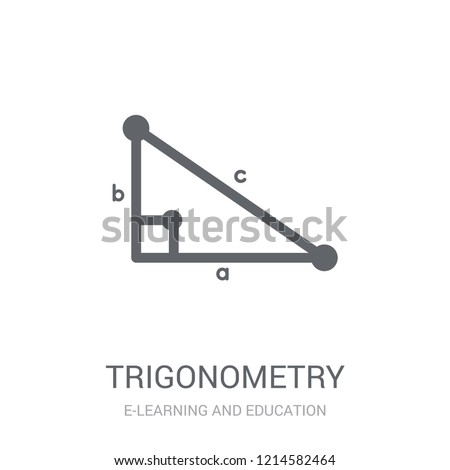 Trigonometry icon. Trendy Trigonometry logo concept on white background from E-learning and education collection. Suitable for use on web apps, mobile apps and print media.