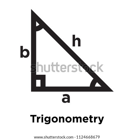 Trigonometry icon vector isolated on white background for your web and mobile app design, Trigonometry logo concept