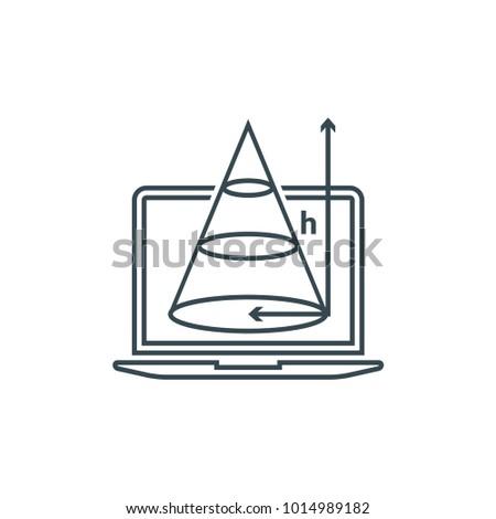 trigonometry line icon