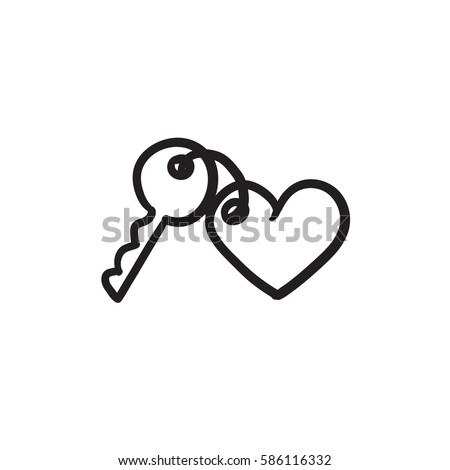 trinket for keys as heart