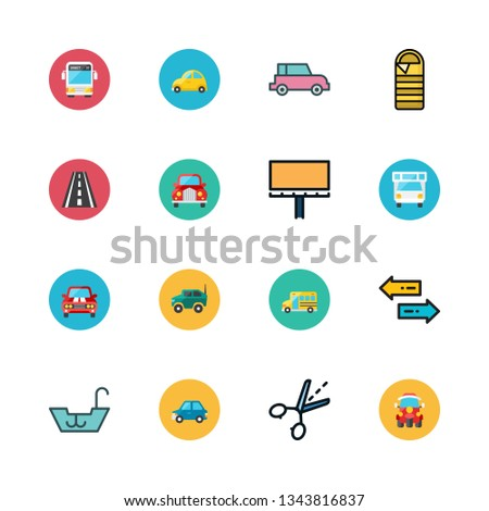 trip vector icon set