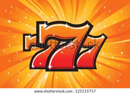 Triple Lucky Sevens burst vector illustration